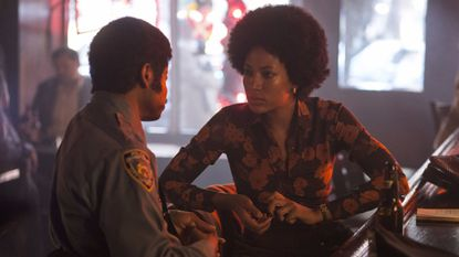 "Lawrence Gilliard Jr. and Natalie Paul in ""The Deuce."""