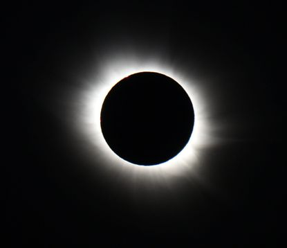 A total solar eclipse as viewed from Longyearbyen, Svalbard, an archipeligo administered by Norway on March 20, 2015. Thousands gathering here as the only land the total eclipse will be seen from is on Svalbard and the Faoroe Islands off Iceland.