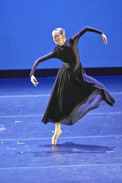 Margaret Kudirka, a senior at Towson University and a member of Ballet ADI and the Towson University Dance Company, performs during the Rising Star compeition at the Celebration of the Arts in Howard County March 23 at Howard Community College.