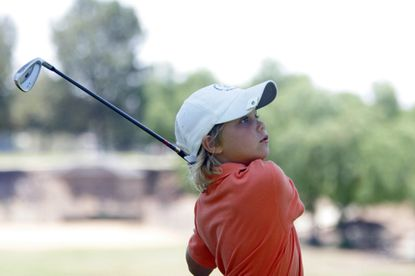 Allan Kournikova, brother of tennis player Anna Kournikova, is competing in the 6-under division of the Callaway Junior World Championships at Colina Park.