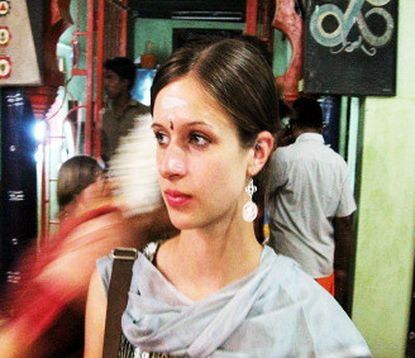 Kati Hoffman, a St. Mary's College of Maryland student, is shown while studying abroad in India.