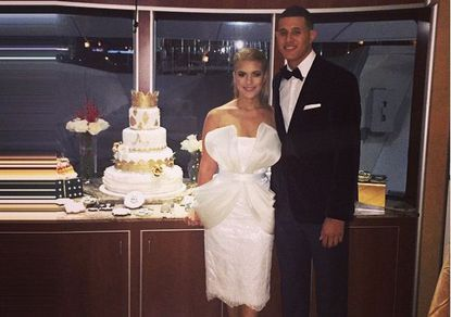 Manny Machado appears to have married his longtime girlfriend, Yainee Alonso
