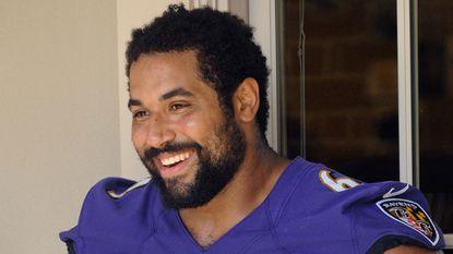 Ravens guard John Urschel started five games in his rookie season.