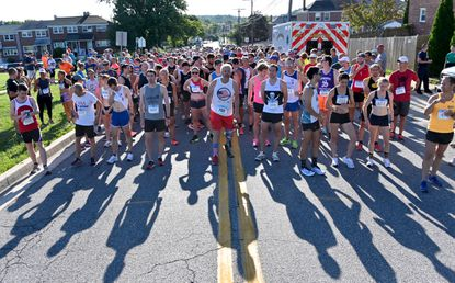 Runners prepare for the start of the race. 38th annual Arbutus Firecracker 10k returns after one-year hiatus, July 3, 2021