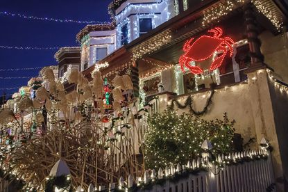 """Christmas Street"" in the Hampden neighborhood of Baltimore."