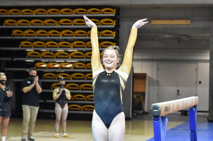 Towson freshman Allison Zuhlke is the creator of a unique vault that has captured the attention of the NCAA gymnastics world.