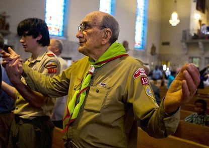 Boy Scouts in Govans hold their 75th anniversary