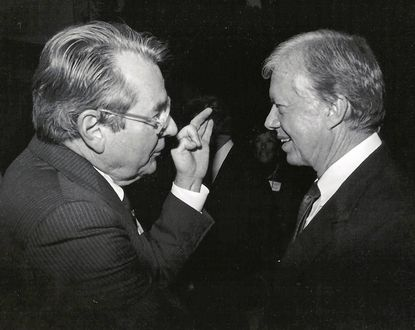 William Stump, left, with former U.S. President Jimmy Carter.