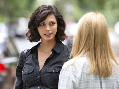 """Morena Baccarin as Jessica Brody and Claire Danes as Carrie Mathison in """"Homeland."""""""