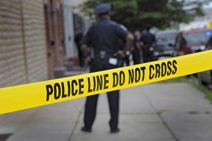 Baltimore police crime scene