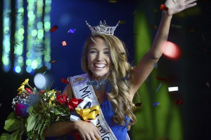 Caitlyn Stupi, of Westminster is crowned Miss Maryland 2019 during the Miss Maryland pageant at The Maryland Theatre in Hagerstown.