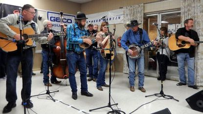 Solo musicians jam during the Marathon Bluegrass Jam Maryland in February 2016 at American Legion Post 276 in Severn. This year's jam, benefiting Fisher House Foundation, is scheduled for Feb. 24.