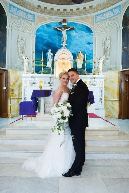 Erin Shannon and Mike Renaud married Dec. 3 at St. Leo's Church in Little Italy.