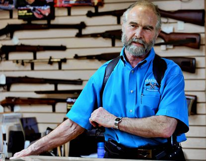 Pasadena Pawn and Gun store owner Frank Loane, Sr. has 230 gun background checks waiting to be approved for gun purchases from his store, by the state police.