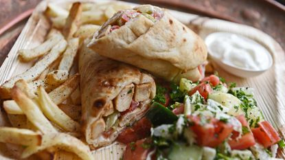 Shawarma, a marinated chicken dish from Syriana in Ellicott City.