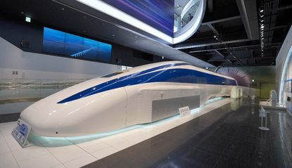 A model maglev train at an exhibition center in Yamanashi, Japan. State Del. Geraldine Valentino-Smith urges residents to keep updated on plans for Maryland.