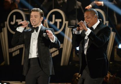 Justin Timberlake and Jay-Z performed at the 2013 Grammy Awards. Their summer stadium tour will stop in Baltimore.