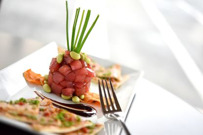 The tuna tartare at The Vineyard Wine Bar in Havre De Grace. The Vineyard Wine Bar was voted best romantic date and best wine list in Harford Magazine's Best of Dining contest.