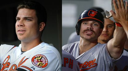 Chris Davis, now sporting a mustache, says he's comfortable with the look amid his success. Clean-shaven Davis, left circa 2013,put up some decent offensive numbers, too.