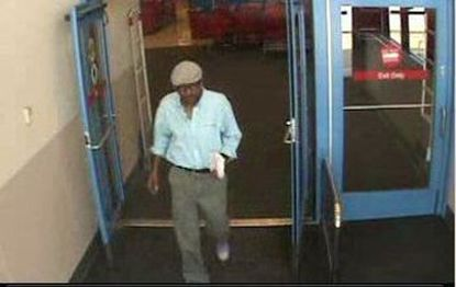 Harford County Sheriff's Office investigators say they believe this man distracted a shopper at the Abingdon Walmart long enough to steal her wallet from her purse. The victim's credit cards were used the same day at the Abingdon Target, police said.