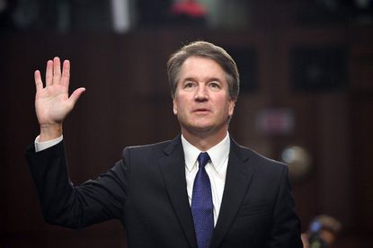 Judge Brett Kavanaugh is sworn in during his U.S. Senate Judiciary Committee confirmation hearings earlier this month.
