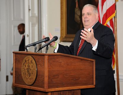 As Republicans across the country try to coalesce behind their controversial presidential nominee next week, Gov. Larry Hogan won't be among them.