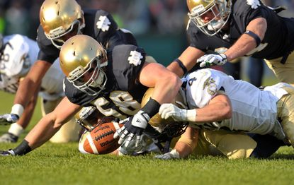 Navy has struggled to get its footing in its previous two games against Notre Dame.