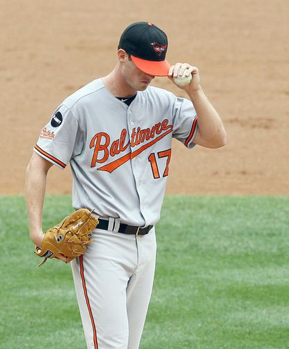 Brian Matusz lasted just 1 1/3 innings against the Yankees, giving up five earned runs as the Orioles lost 11-10.