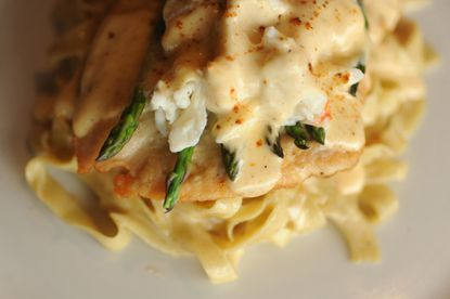 Ristorante Firenze spices up traditional chicken Oscar fettuccine with Old Bay.