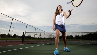 Marriotts Ridge junior Veronica Cuellar is the Howard County Times girls tennis Player of the Year.