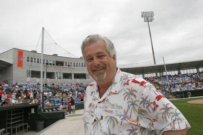 Peter Schmuck on a spring training visit to Ed Smith Stadium in Sarasota, Fla.