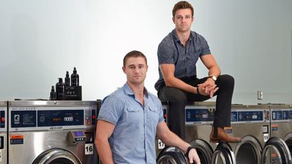 Brothers Leif, right, and Erin Frey have started a line of men's grooming and laundry products under their family name FREY.