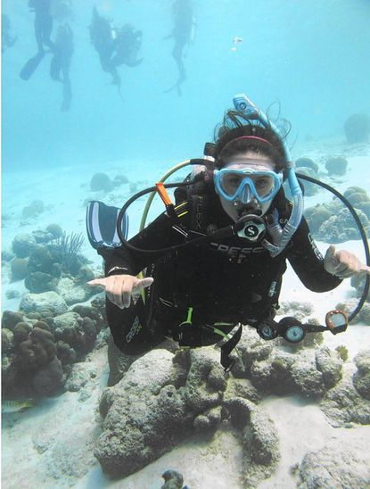 Laurel native Rebecca Stevick on a 2016 training dive in Bonaire, an island in the Caribbean.