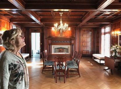 CCBC campus director Joan Swiston gives a tour of the Hilton Center, a restored historic mansion, after a $6.5 million renovation, on Jan. 19.