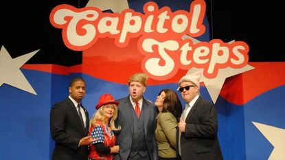 """The Capitol Steps perform two shows at the McAninch Arts Center April 12. The political comedy troupe will perform songs from its newest album, """"Orange is the New Barack."""" - Original Credit: Handout"""