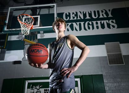 Century High School senior Noah Riley is the 2021 Carroll County Times boys basketball player of the year.