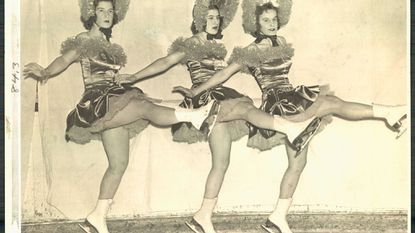 The Ice Skating Carnival of 1939 featured numerous acts, including these costumed ice dancers.