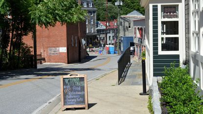 The first stores have begun reopening in historic Ellicott City on Old Columbia Pike. Linwood Boutique and The ClayGround are open already and Manor Hill Tavern will open to the public on June 16.