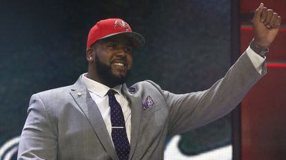 Penn State offensive lineman Donovan Smith was selected 34th overall in the NFL draft by the Tampa Bay Buccaneers.