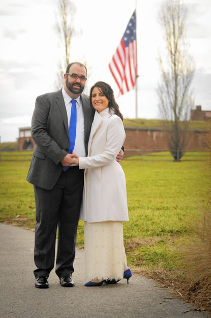 Mileah Kromer and Michael Madden chose to get married at Fort McHenry because visiting there was the first Baltimore memory they had together.