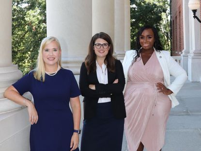 Del. Dana Jones, D-Annapolis, state Sen. Sarah Elfreth, D-Annapolis, Del. Shaneka Henson, D-Annapolis. The three Democratic legislators have announced they will seek a second term in the Maryland General Assembly in 2022.