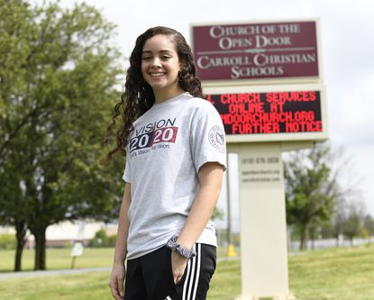 Carroll Christian School senior Camille Echegoyen is pictured in Westminster Wednesday, May 27, 2020.