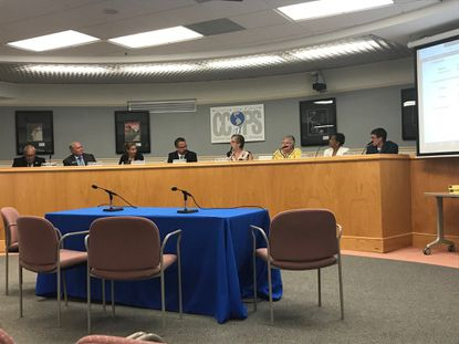 The Carroll County Board of Education met in a work session on Wednesday, July 10 to discuss options for aging East Middle School.