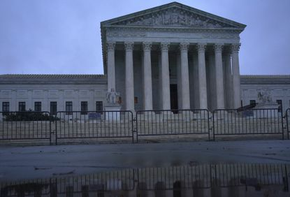 The Supreme Court building in Washington, Oct. 12, the first day of the confirmation hearing for Judge Amy Coney Barrett, President Donald Trump's nominee to replace Ruth Bader Ginsburg.