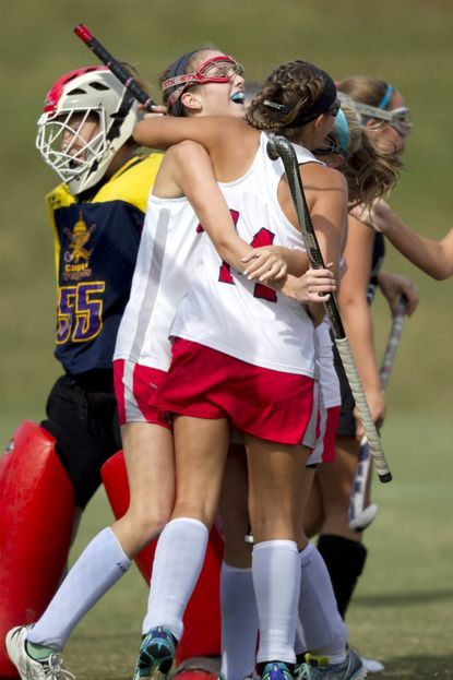 The Glenelg field hockey clinched a share of its 15th county title Tuesday night.
