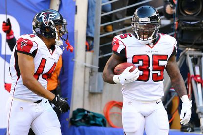 Falcons running back Antone Smith has an NFL-best 255 yards on his five touchdown plays this year.
