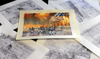Annapolis artist puts his stamp on the Battle of Baltimore