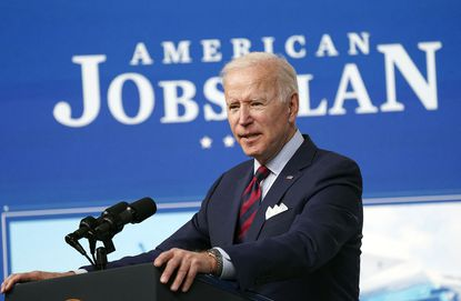 President Joe Biden delivers remarks on the investments in the American Jobs Plan in the South Court Auditorium in Washington, D.C., on Wednesday, April 7, 2021.