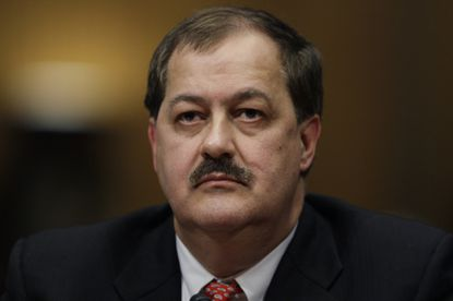 Then-Massey Energy Co. Chief Executive Officer Don Blankenship testifies on Capitol Hill in a photo from 2010.