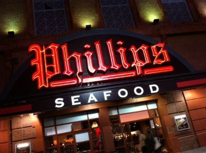 Phillips Seafood restaurant at the Power Plant in downtown Baltimore.